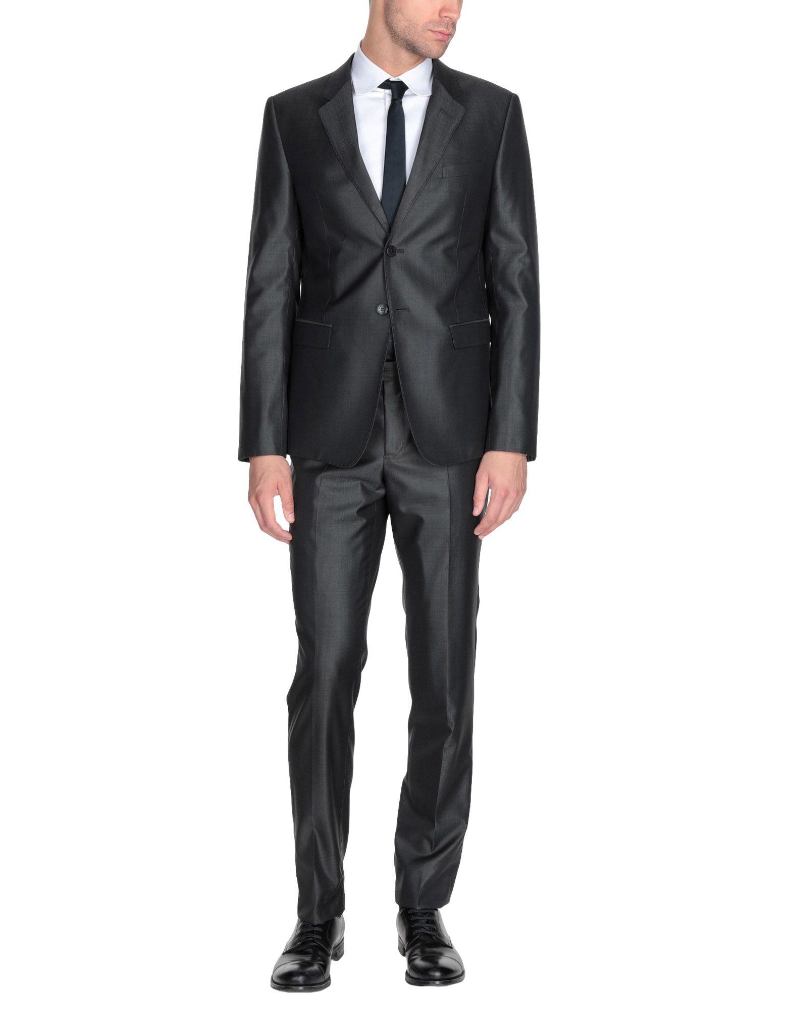 《送料無料》EMPORIO ARMANI メンズ スーツ スチールグレー 54 バージンウール 75% / シルク 25%