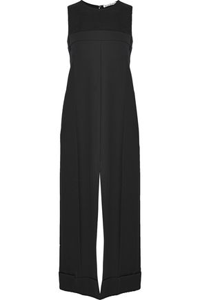 ACNE STUDIOS Chiffon-paneled wool midi dress