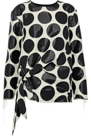 MARQUES' ALMEIDA Tie-front jacquard shirt