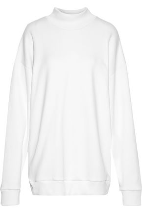 MARQUES' ALMEIDA Oversized cotton-blend terry turtleneck sweatshirt