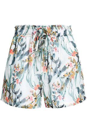 W118 by WALTER BAKER Fil coupé floral-print mousseline shorts