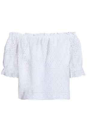 W118 by WALTER BAKER Off-the-shoulder broderie anglaise cotton top