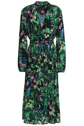 W118 by WALTER BAKER Faith floral-print crepe de chine midi wrap dress