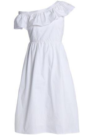 W118 by WALTER BAKER Eva one-shoulder ruffled cotton-poplin dress