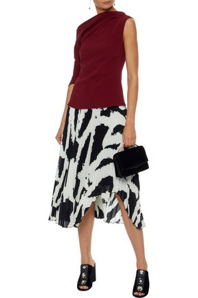 PETER PILOTTO One-shoulder gathered crepe top