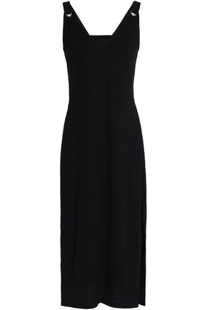 W118 by WALTER BAKER Brooklyn ribbed cotton-blend jersey midi dress