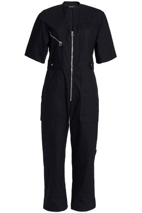 ISABEL MARANT Cropped canvas jumpsuit