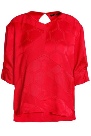ISABEL MARANT Paneled jacquard top