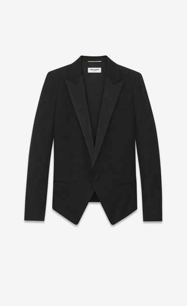tuxedo spencer jacket in grain de poudre Saint Laurent