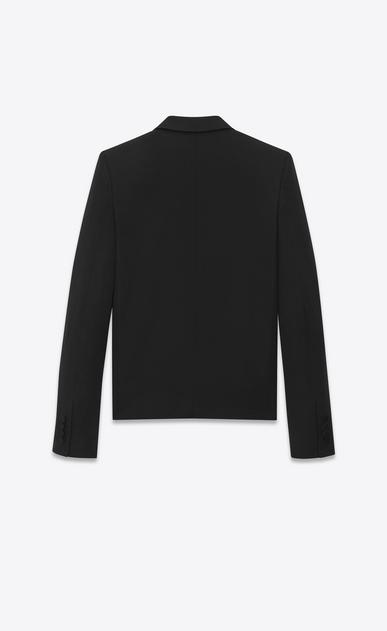SAINT LAURENT Blazer Jacket Woman tuxedo spencer jacket in grain de poudre Saint Laurent b_V4
