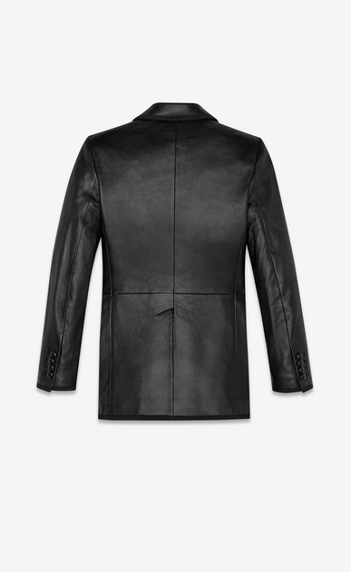 SAINT LAURENT Leather jacket Woman double breasted lambskin jacket b_V4