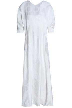 ISABEL MARANT Gathered jacquard midi dress