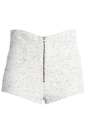 ISABEL MARANT Bouclé cotton-tweed shorts