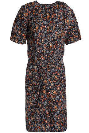 ISABEL MARANT Twisted printed silk dress