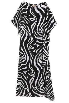 EMILIO PUCCI Zebra-print silk kaftan
