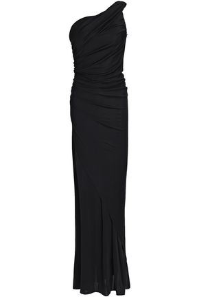 EMILIO PUCCI One-shoulder ruched stretch-jersey gown