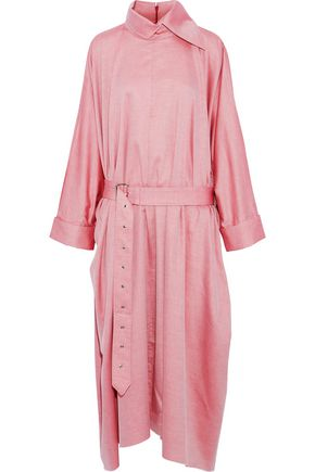 MARQUES' ALMEIDA Oversized belted cotton-twill midi dress