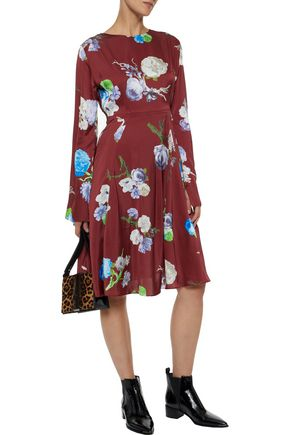 ACNE STUDIOS Dahari floral-print satin dress