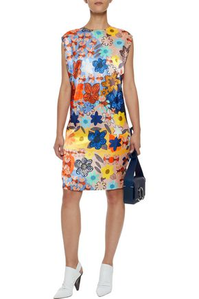 ACNE STUDIOS Delina floral-print satin dress