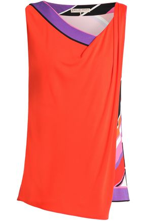 EMILIO PUCCI Layered printed crepe de chine top