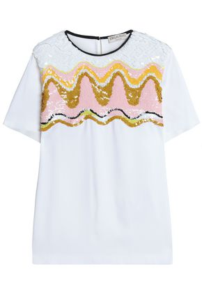 EMILIO PUCCI Sequined crepe top