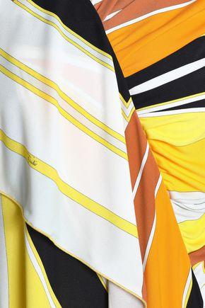 EMILIO PUCCI Draped printed stretch-jersey dress