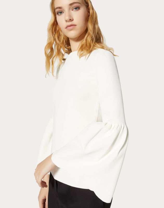 Stretch Viscose Scalloped Jumper
