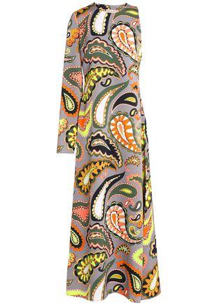 EMILIO PUCCI Asymmetric printed crepe gown