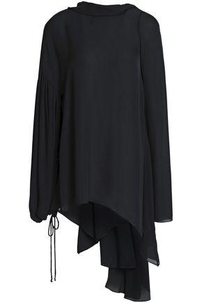 EMILIO PUCCI Draped silk-crepe blouse