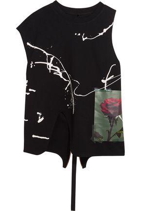 PROENZA SCHOULER Asymmetric printed cotton-jersey top