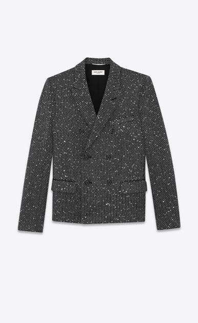 lurex tweed double breasted jacket