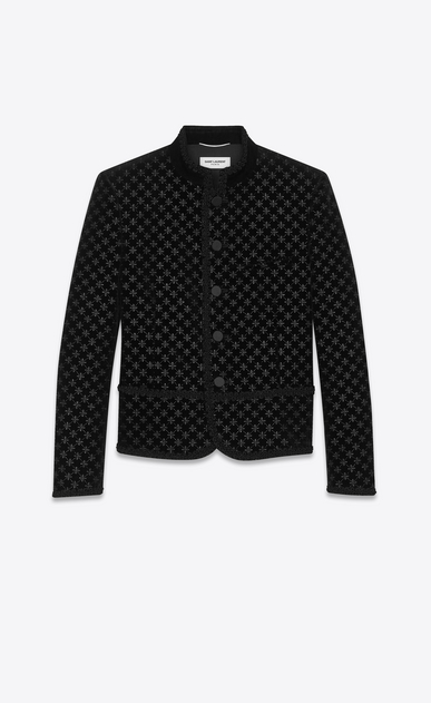SAINT LAURENT Classic Jackets Man star embroidered velvet spencer a_V4