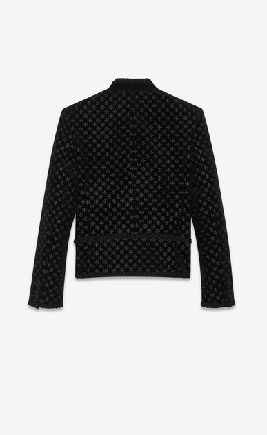 SAINT LAURENT Classic Jackets Uomo Giacca Spencer in velluto ricamo stelle b_V4