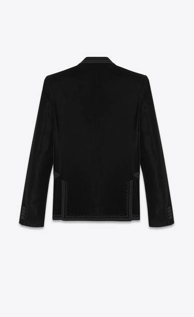 SAINT LAURENT Classic Jackets Man embroidered velvet jacket b_V4
