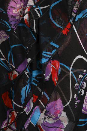 EMILIO PUCCI Ruffled floral-print silk-organza top