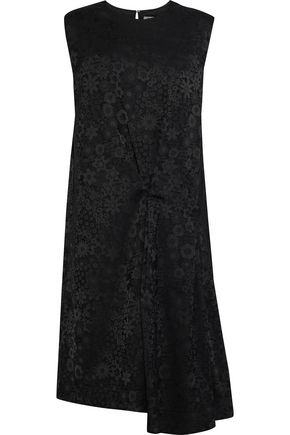ACNE STUDIOS Danya asymmetric gathered floral-jacquard dress