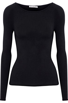 ACNE STUDIOS Edra brushed stretch-jersey top