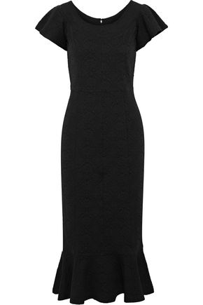 OPENING CEREMONY Fluted matelassé midi dress