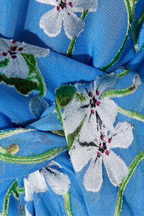 ALICE + OLIVIA Halsey belted floral-print devoré-chiffon dress