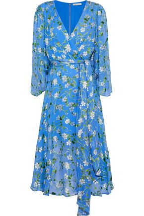 ALICE + OLIVIA Halsey belted floral-print devoré-chiffon dress