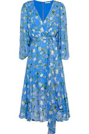 ALICE + OLIVIA JEANS Halsey belted floral-print devoré-chiffon dress