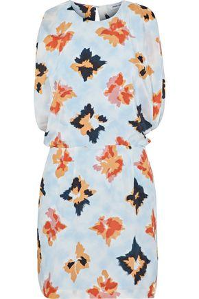 OPENING CEREMONY Open-back draped floral-print silk mini dress