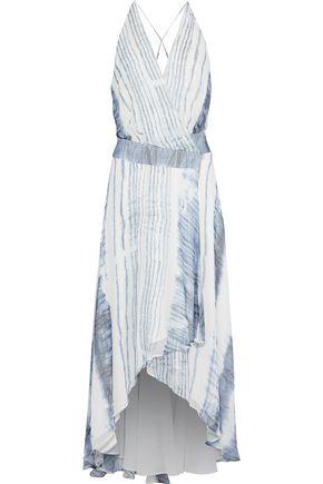 HAUTE HIPPIE Wrap-effect printed silk-chiffon midi dress