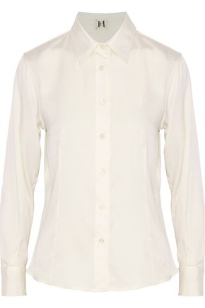CAROLINA HERRERA Silk-blend crepe de chine shirt
