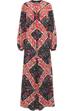 OPENING CEREMONY Cutout printed silk maxi dress