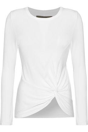 ENZA COSTA Twist-front jersey top