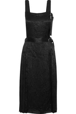 OPENING CEREMONY Pleated crinkled-satin dress