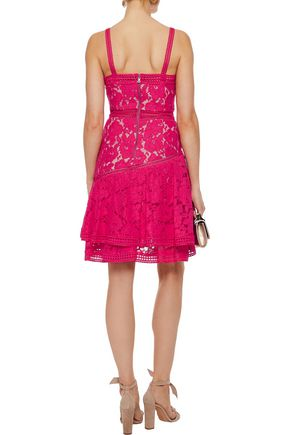 ALICE + OLIVIA Angelita ruffled cotton-blend guipure lace dress