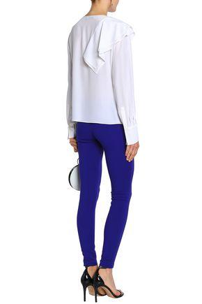EMILIO PUCCI Ruffled silk crepe de chine blouse