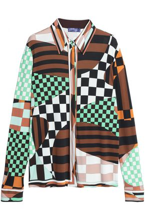 EMILIO PUCCI Printed stretch-jersey shirt